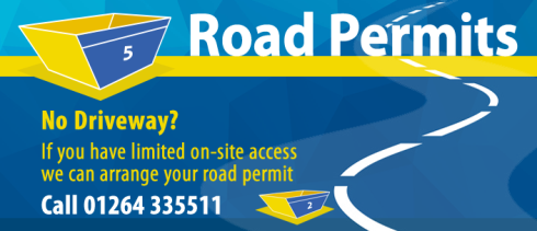 Skip hire road permits - ask Andover Skip Hire